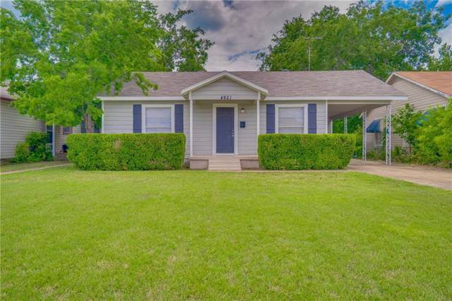 4821 Lovell Avenue, Fort Worth, TX 76107 (MLS #14138115) :: Century 21 Judge Fite Company