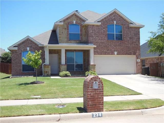 234 Cedar Crest Drive, Justin, TX 76247 (MLS #14140028) :: The Real Estate Station