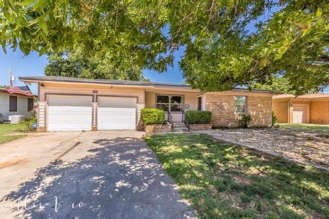 317 Glenhaven Drive, Abilene, TX 79603 (MLS #14140126) :: Team Hodnett