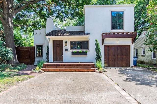 4722 W Amherst Avenue, Dallas, TX 75209 (MLS #14143507) :: HergGroup Dallas-Fort Worth