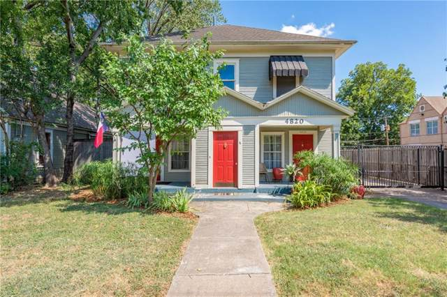 4820-22 Worth Street, Dallas, TX 75246 (MLS #14145164) :: RE/MAX Town & Country