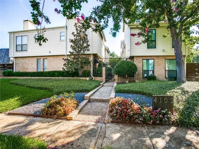 4102 Bowser Avenue #7, Dallas, TX 75219 (MLS #14145430) :: Tenesha Lusk Realty Group