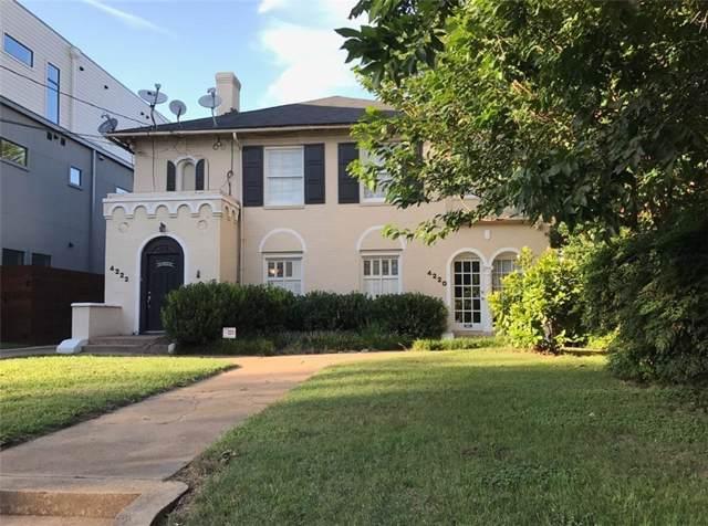4220 N Hall Street, Dallas, TX 75219 (MLS #14146038) :: Tenesha Lusk Realty Group