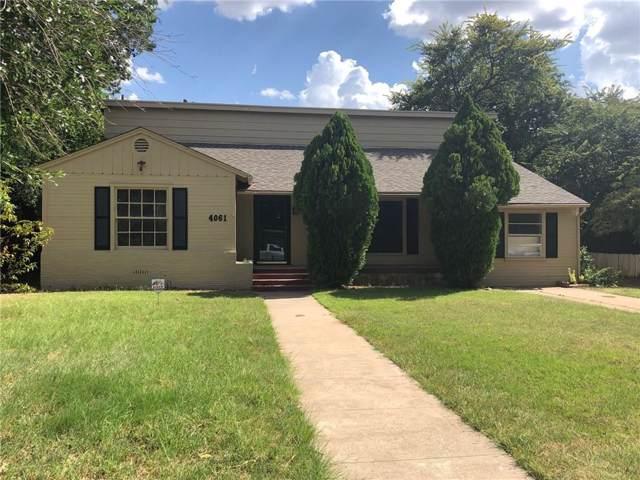 4061 Monticello Street, Abilene, TX 79605 (MLS #14148162) :: Century 21 Judge Fite Company