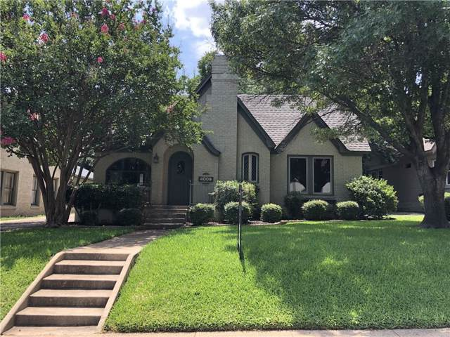 4009 W 4th Street, Fort Worth, TX 76107 (MLS #14158540) :: The Mitchell Group