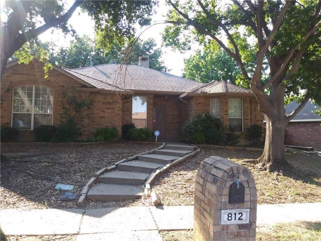 812 Boxwood Drive, Lewisville, TX 75067 (MLS #14164692) :: Hargrove Realty Group