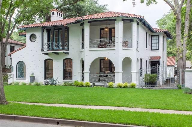 4538 Fairway Avenue, Highland Park, TX 75219 (MLS #14169053) :: Van Poole Properties Group