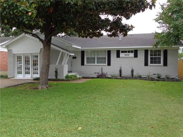 403 Dover, Richardson, TX 75080 (MLS #14171837) :: The Good Home Team
