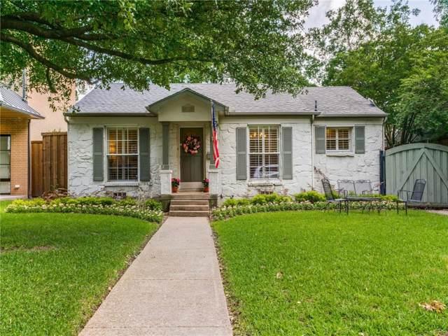5718 W Amherst Avenue, Dallas, TX 75209 (MLS #14176346) :: Robbins Real Estate Group