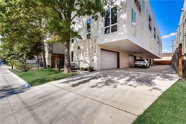 2016 N Fitzhugh Avenue #106, Dallas, TX 75204 (MLS #14183407) :: Kimberly Davis & Associates