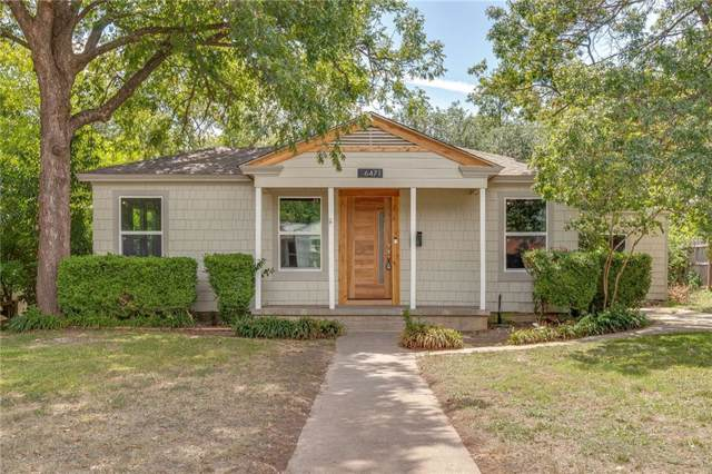 6471 Lindell Avenue, Fort Worth, TX 76116 (MLS #14185364) :: Kimberly Davis & Associates