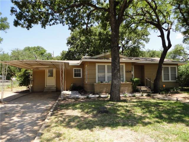 1106 Oakland Drive, Brownwood, TX 76801 (MLS #14186221) :: The Heyl Group at Keller Williams