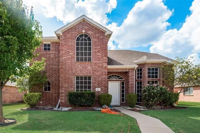 209 Morningstar Lane, Red Oak, TX 75154 (MLS #14187342) :: RE/MAX Town & Country