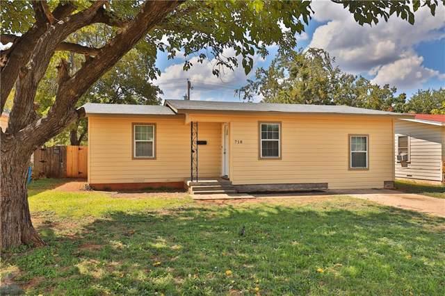 718 Westmoreland Street, Abilene, TX 79603 (MLS #14187983) :: RE/MAX Town & Country