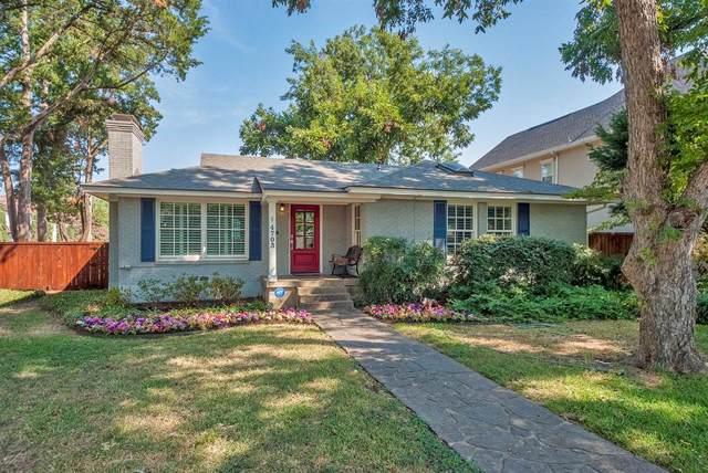 4703 W Amherst Avenue, Dallas, TX 75209 (MLS #14199825) :: Lynn Wilson with Keller Williams DFW/Southlake