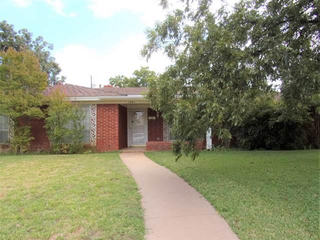 1801 Richland Drive, Abilene, TX 79603 (MLS #14200608) :: The Good Home Team