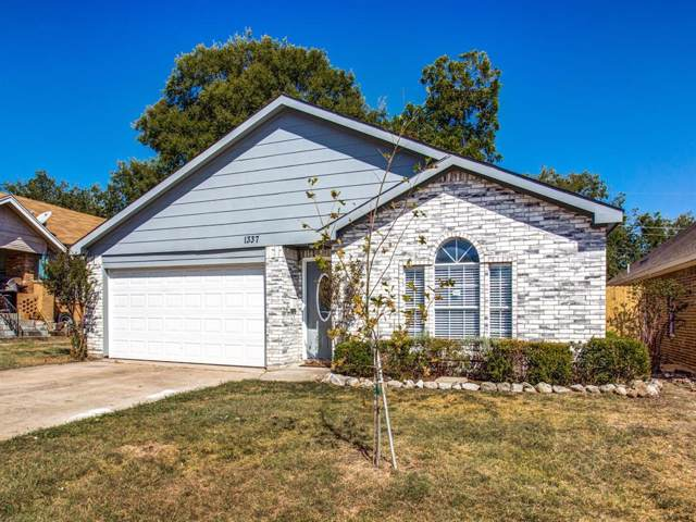 1337 E Maddox Avenue, Fort Worth, TX 76104 (MLS #14202033) :: Lynn Wilson with Keller Williams DFW/Southlake