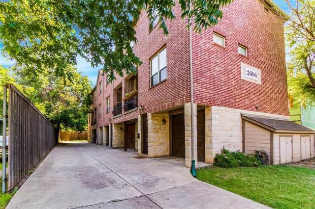 2606 N Henderson Avenue C, Dallas, TX 75206 (MLS #14203307) :: Baldree Home Team