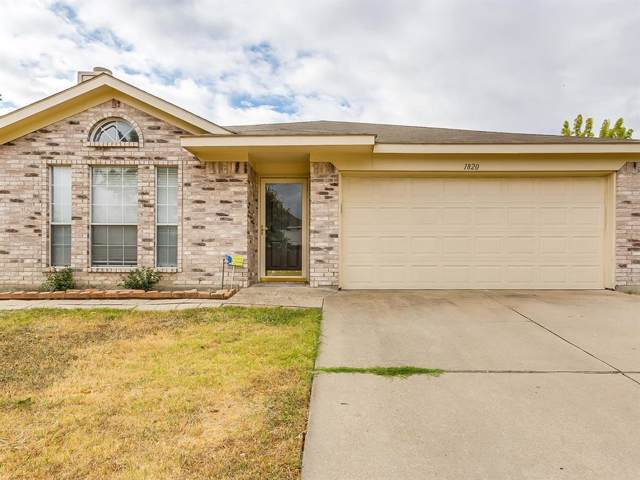 1820 Overland Street, Fort Worth, TX 76131 (MLS #14203938) :: RE/MAX Town & Country