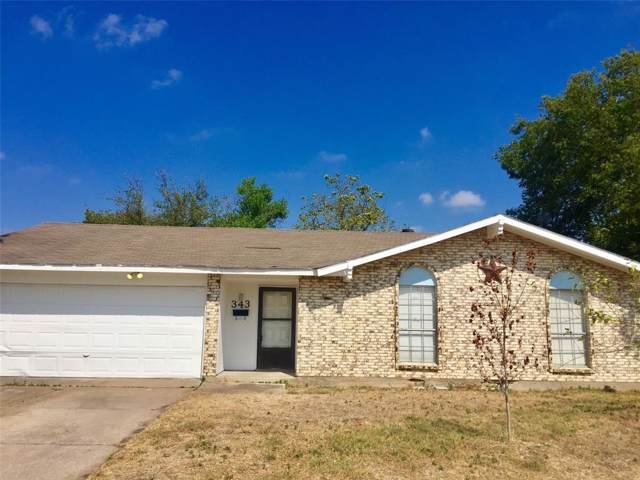 343 Halo Street, Duncanville, TX 75137 (MLS #14204349) :: Roberts Real Estate Group