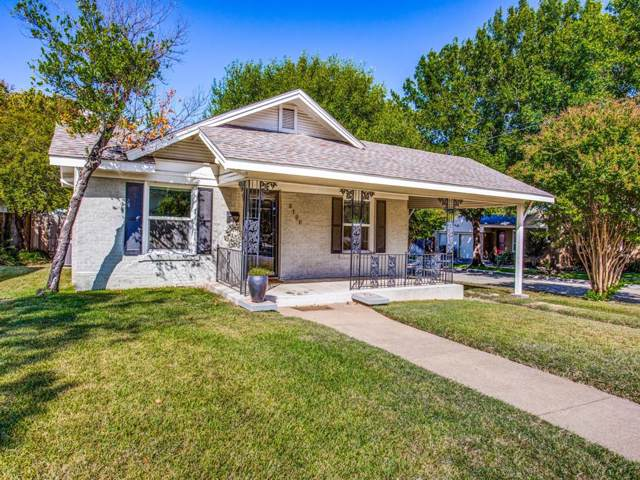 5100 Calmont Avenue, Fort Worth, TX 76107 (MLS #14205244) :: RE/MAX Town & Country
