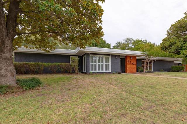 4101 South Drive, Fort Worth, TX 76109 (MLS #14208702) :: The Mitchell Group