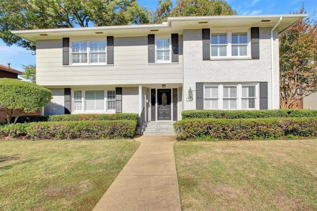 3716 S Wentwood Drive, University Park, TX 75225 (MLS #14214799) :: RE/MAX Town & Country