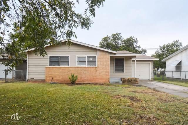 1134 Shelton Street, Abilene, TX 79603 (MLS #14215511) :: The Rhodes Team