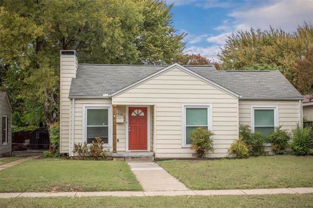 5612 El Campo Avenue, Fort Worth, TX 76107 (MLS #14217376) :: RE/MAX Town & Country