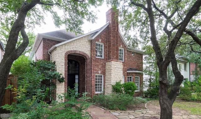 2833 Fondren Drive, University Park, TX 75205 (MLS #14218263) :: Van Poole Properties Group
