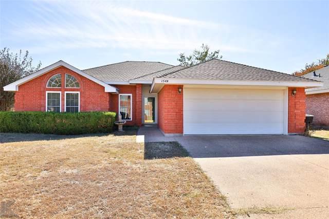 1549 Friars Street, Abilene, TX 79602 (MLS #14220391) :: RE/MAX Town & Country