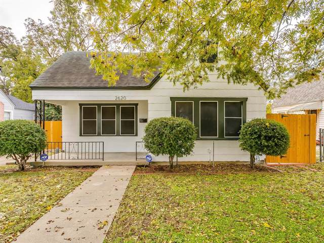 2620 Honeysuckle Avenue, Fort Worth, TX 76111 (MLS #14225148) :: RE/MAX Town & Country