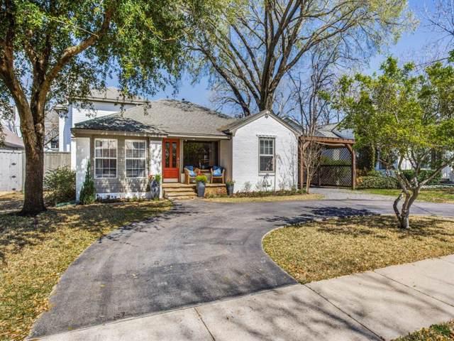 5631 Southwestern Boulevard, Dallas, TX 75209 (MLS #14225656) :: Van Poole Properties Group