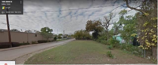 1845 Akron Street, Dallas, TX 75212 (MLS #14225666) :: RE/MAX Town & Country