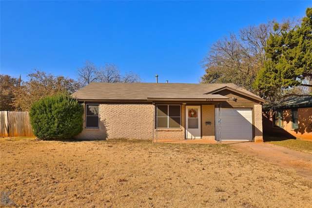 1502 Bridge Avenue, Abilene, TX 79603 (MLS #14226366) :: Ann Carr Real Estate