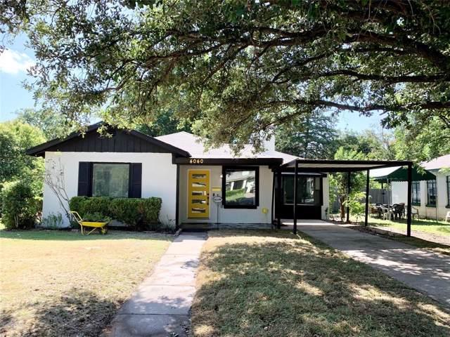 4040 Carolyn Road, Fort Worth, TX 76109 (MLS #14226551) :: The Chad Smith Team