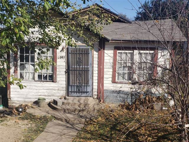 2003 E 8th Street, Dallas, TX 75203 (MLS #14227087) :: The Kimberly Davis Group