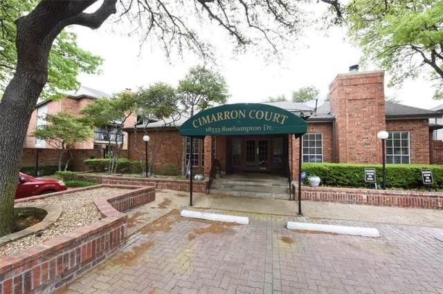 18333 Roehampton Drive #114, Dallas, TX 75252 (MLS #14227640) :: All Cities Realty