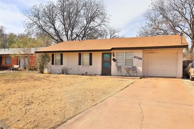 2026 Yorktown Drive, Abilene, TX 79603 (MLS #14228816) :: Ann Carr Real Estate
