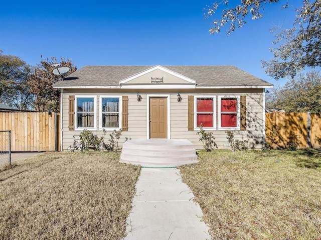 3629 Crenshaw Avenue, Fort Worth, TX 76105 (MLS #14231066) :: RE/MAX Town & Country