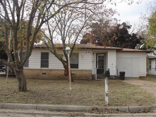 1816 12th Avenue, Mineral Wells, TX 76067 (MLS #14231527) :: RE/MAX Town & Country
