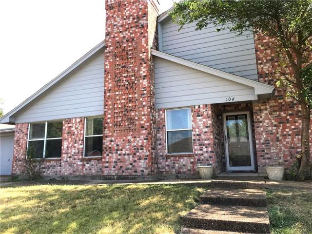 106 Idle Creek Lane, Desoto, TX 75115 (MLS #14233779) :: The Hornburg Real Estate Group