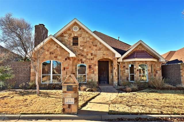 15 Mesa Ridge, Abilene, TX 79606 (MLS #14235581) :: The Chad Smith Team