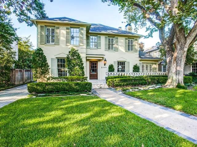 3604 Colgate Avenue, University Park, TX 75225 (MLS #14236641) :: Robbins Real Estate Group