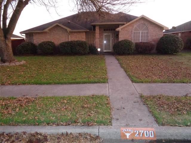 2700 Pioneer Lane, Lancaster, TX 75146 (MLS #14236727) :: Van Poole Properties Group