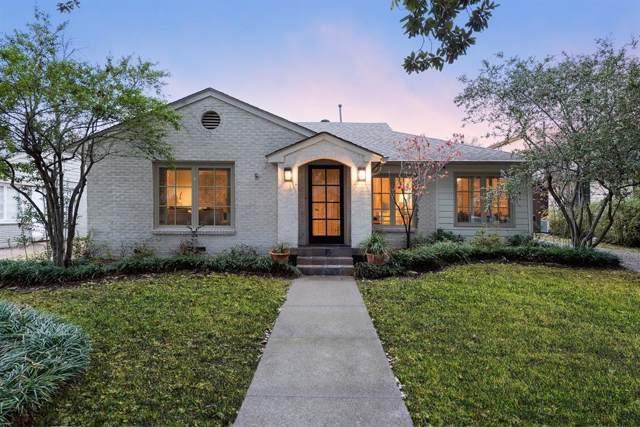 5441 Druid Lane, Dallas, TX 75209 (MLS #14237096) :: All Cities Realty