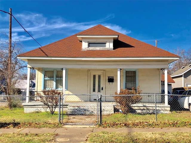 1826 Washington Avenue, Fort Worth, TX 76110 (MLS #14238936) :: The Hornburg Real Estate Group