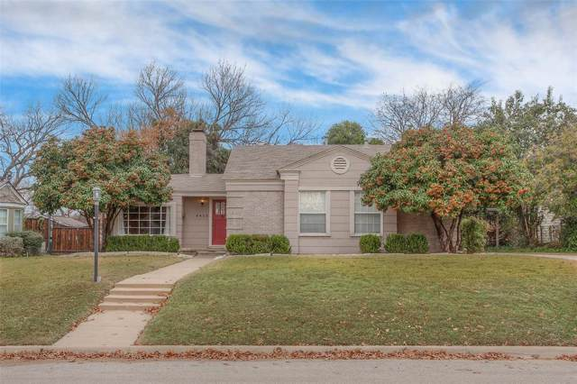 6412 Greenway Road, Fort Worth, TX 76116 (MLS #14239990) :: The Kimberly Davis Group