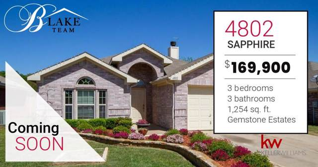 4802 Sapphire Lane, Granbury, TX 76049 (MLS #14240099) :: Tenesha Lusk Realty Group