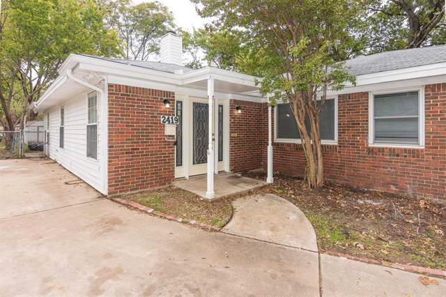 2419 Cambridge Drive, Irving, TX 75061 (MLS #14240656) :: Hargrove Realty Group